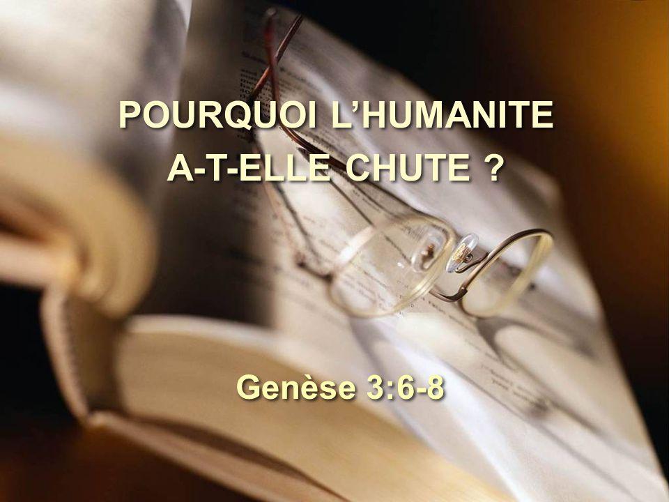 POURQUOI L'HUMANITE A-T-ELLE CHUTE