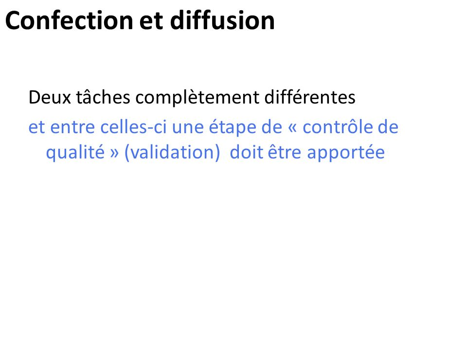 Confection et diffusion