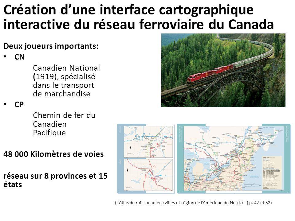 Création d'une interface cartographique interactive du réseau ferroviaire du Canada