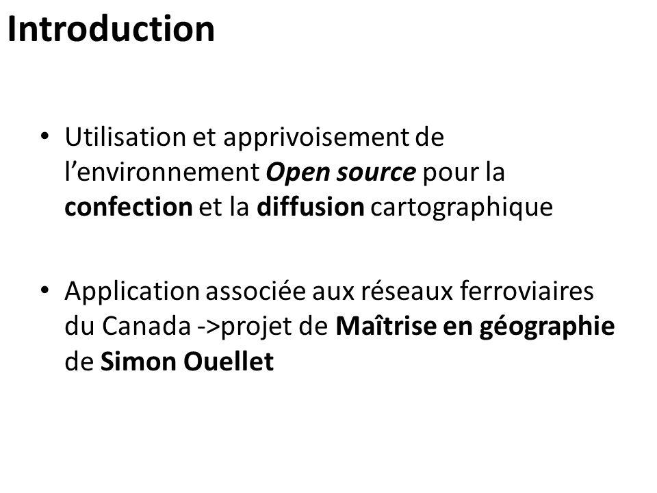 Introduction Utilisation et apprivoisement de l'environnement Open source pour la confection et la diffusion cartographique.