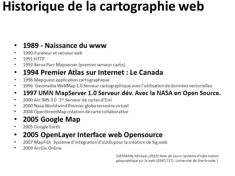 Historique de la cartographie web