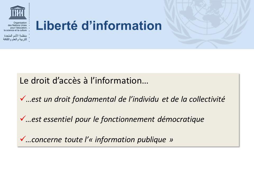 Liberté d'information