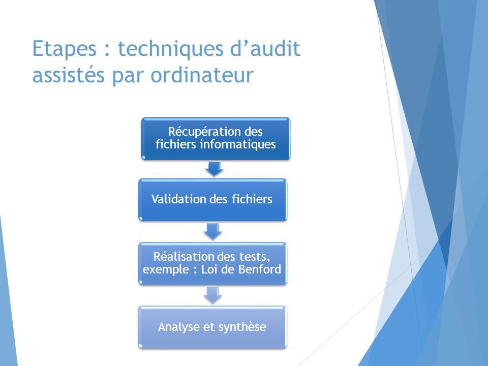 Etapes : techniques d'audit assistés par ordinateur