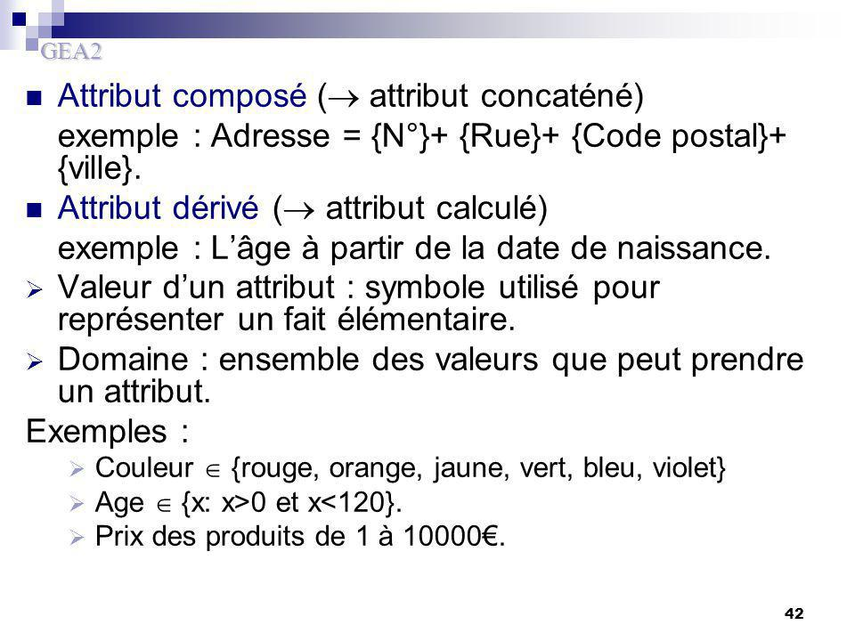 Attribut composé ( attribut concaténé)