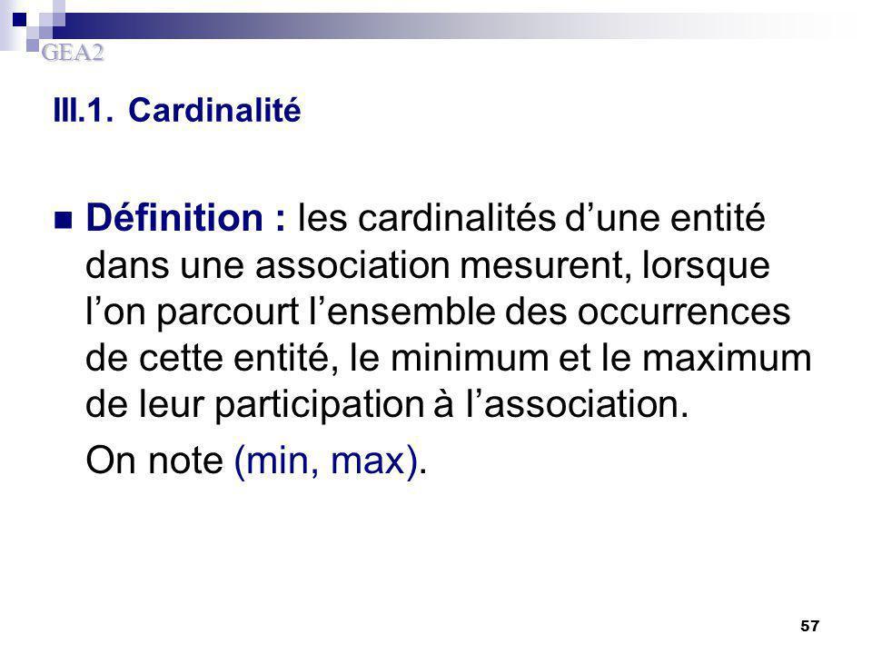 III.1. Cardinalité
