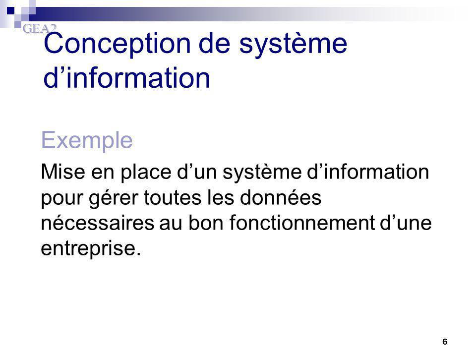 Conception de système d'information