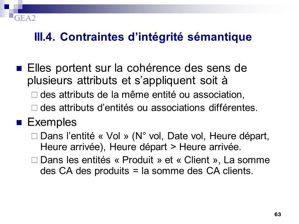 III.4. Contraintes d'intégrité sémantique