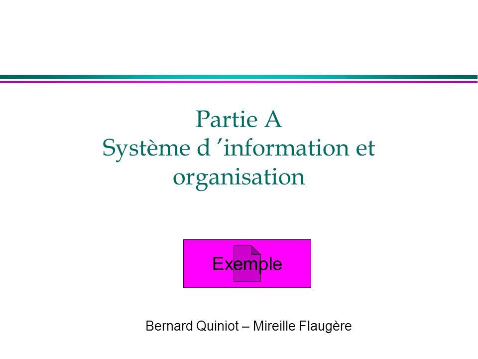 Partie A Système d 'information et organisation