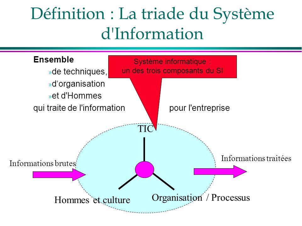 Définition : La triade du Système d Information