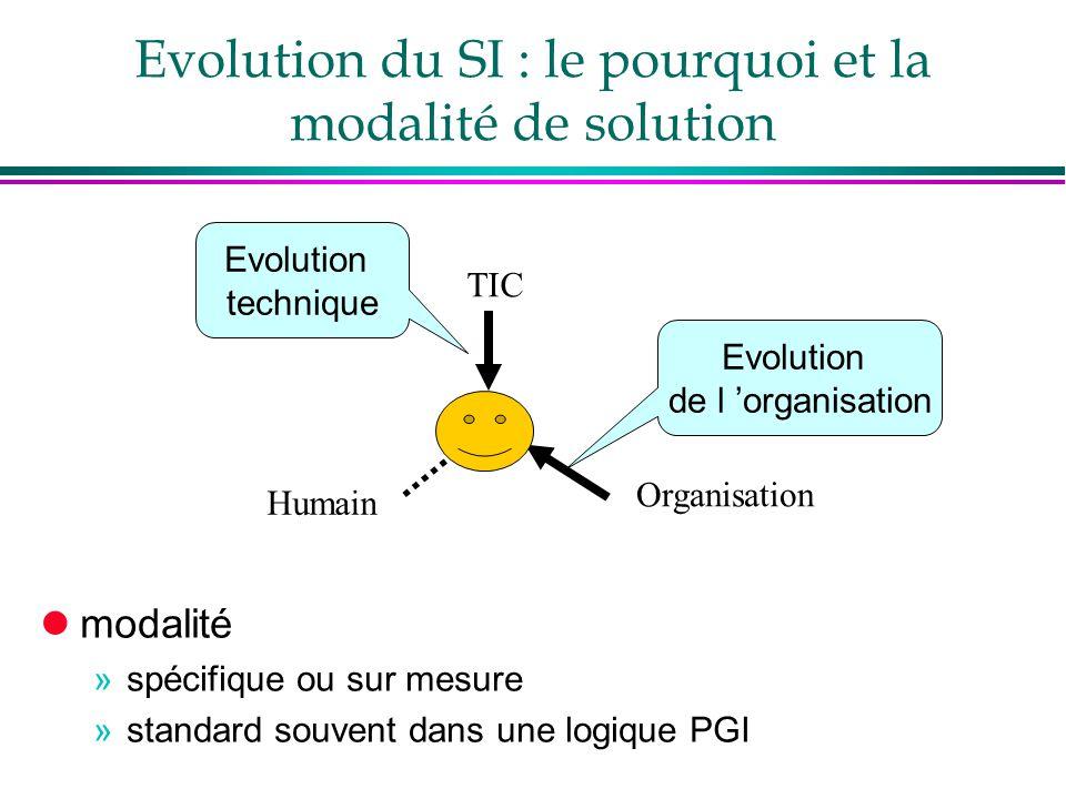 Evolution du SI : le pourquoi et la modalité de solution