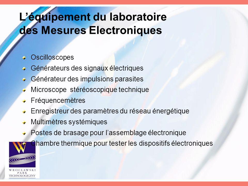L'équipement du laboratoire des Mesures Electroniques
