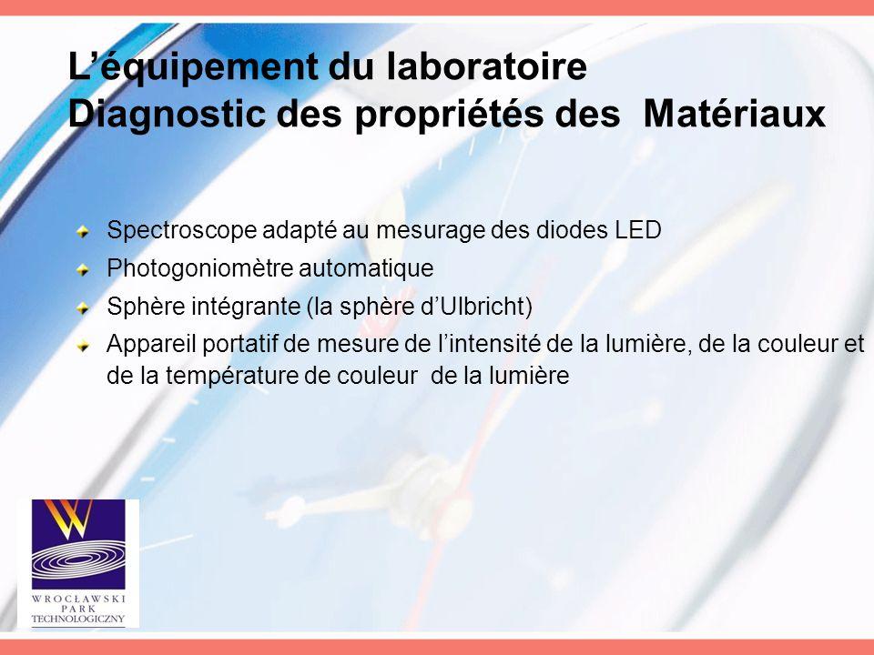 L'équipement du laboratoire Diagnostic des propriétés des Matériaux