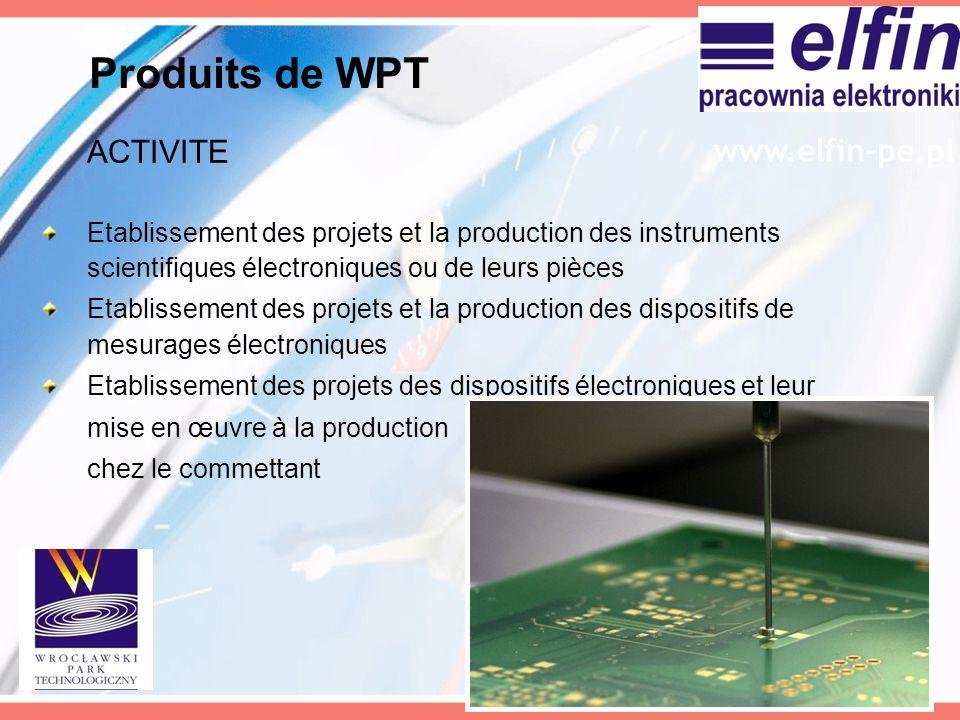 Produits de WPT ACTIVITE www.elfin-pe.pl
