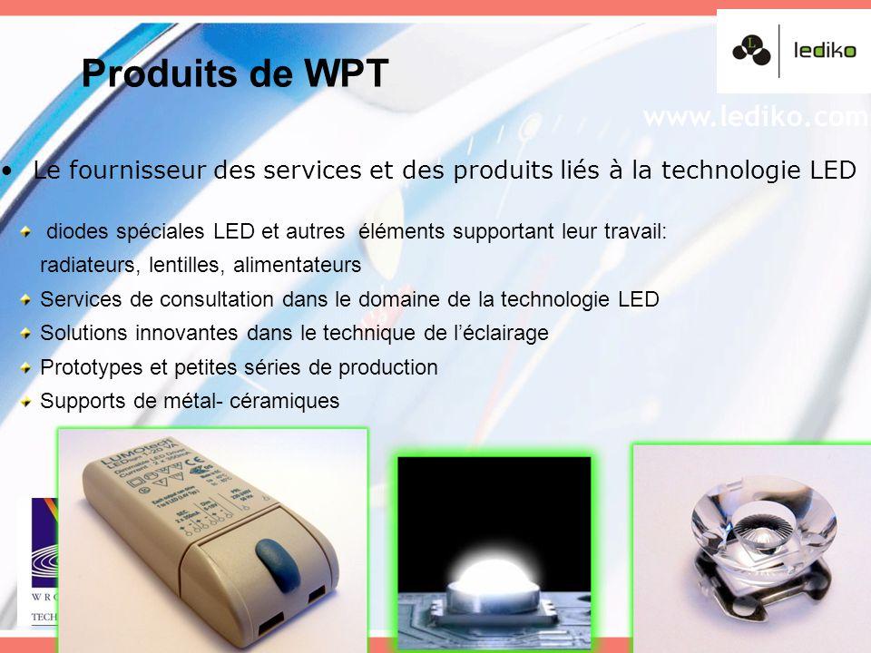 Le fournisseur des services et des produits liés à la technologie LED