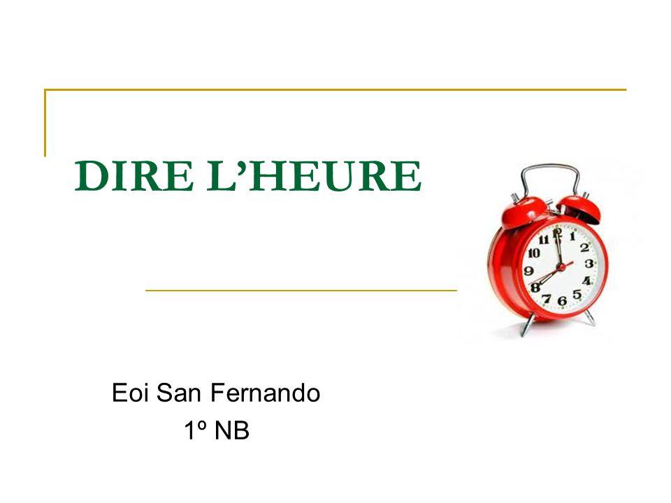 DIRE L'HEURE Eoi San Fernando 1º NB