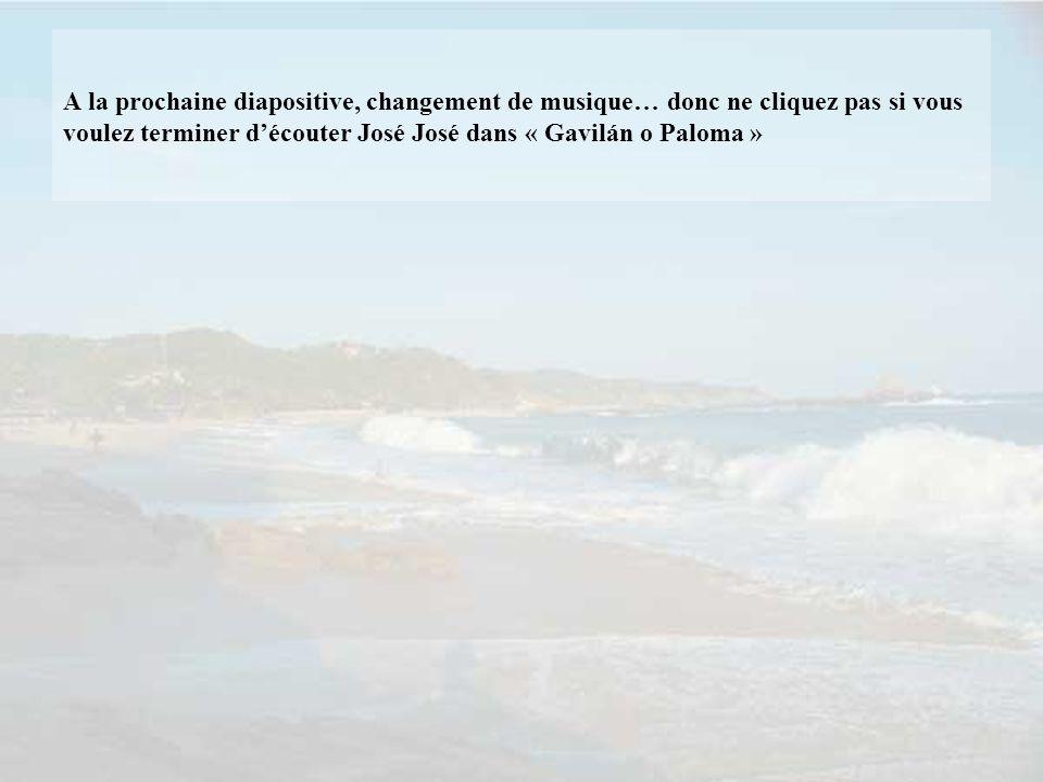 A la prochaine diapositive, changement de musique… donc ne cliquez pas si vous voulez terminer d'écouter José José dans « Gavilán o Paloma »