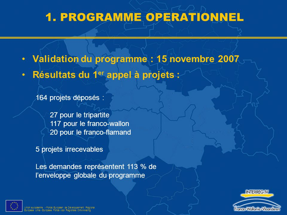 1. PROGRAMME OPERATIONNEL