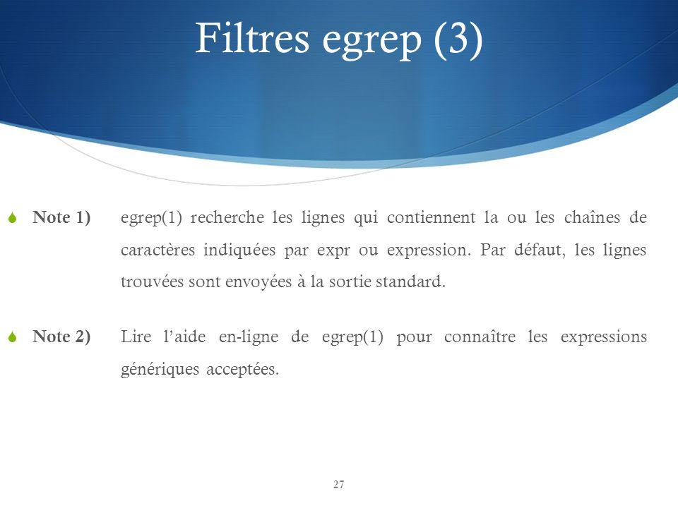Filtres egrep (3)