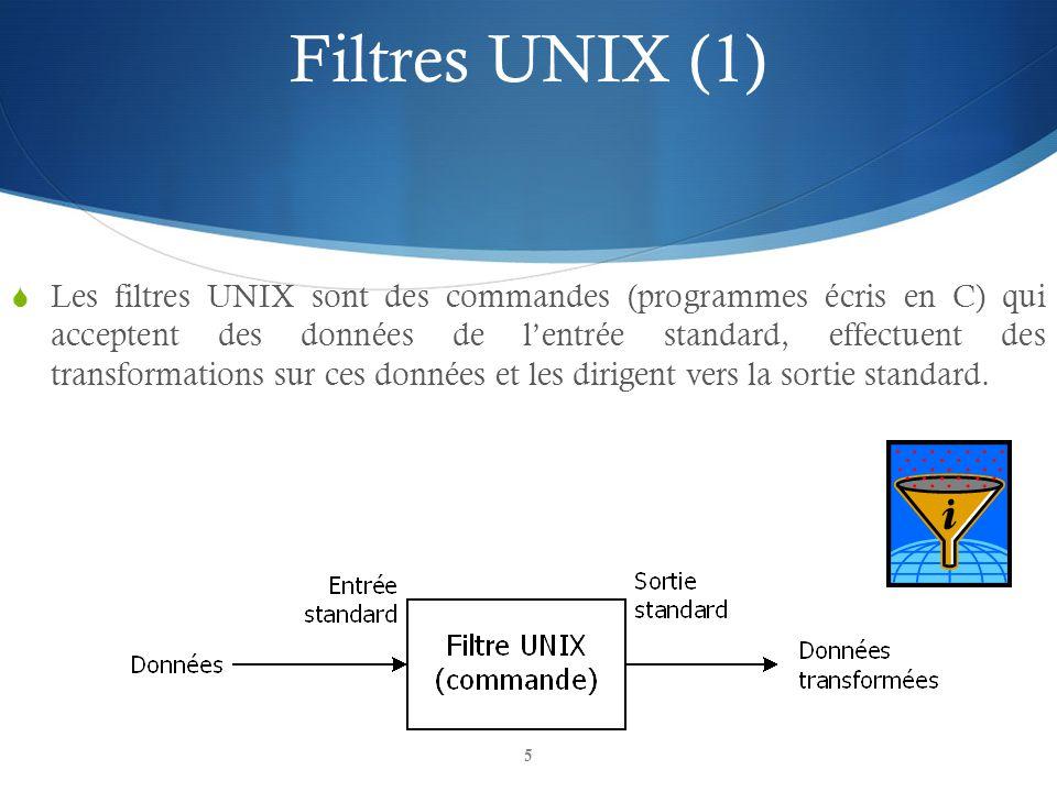 Filtres UNIX (1)
