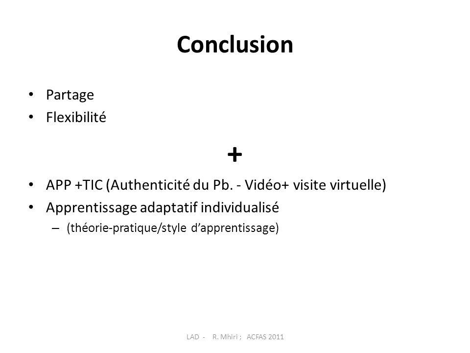 + Conclusion Partage Flexibilité