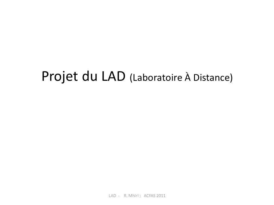 Projet du LAD (Laboratoire À Distance)