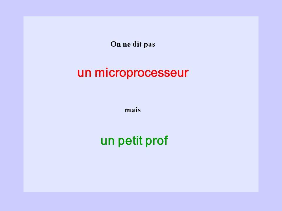 un microprocesseur un petit prof