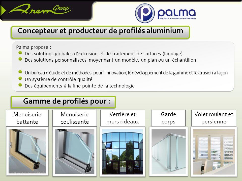 Concepteur et producteur de profilés aluminium