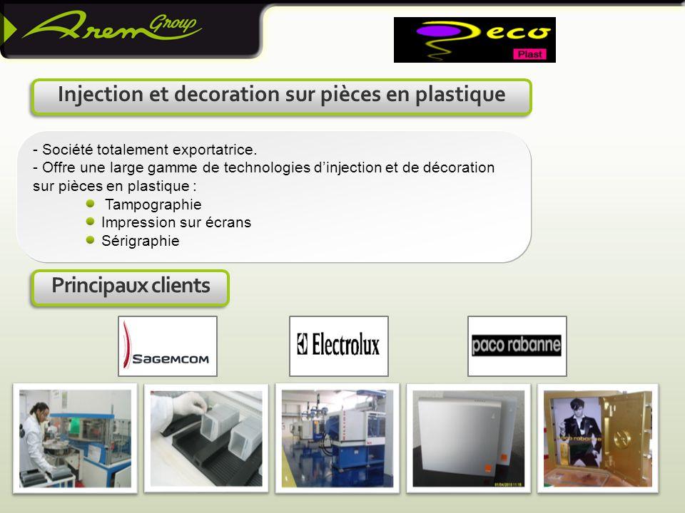 Injection et decoration sur pièces en plastique