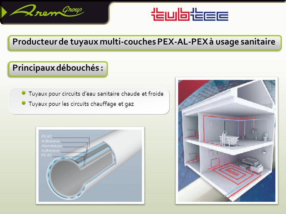 Producteur de tuyaux multi-couches PEX-AL-PEX à usage sanitaire