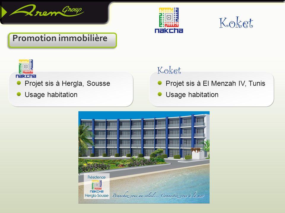 Koket Koket Promotion immobilière Projet sis à Hergla, Sousse