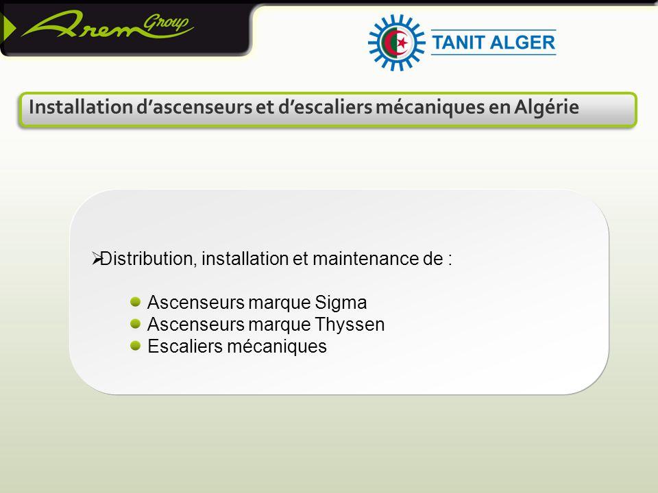 Installation d'ascenseurs et d'escaliers mécaniques en Algérie