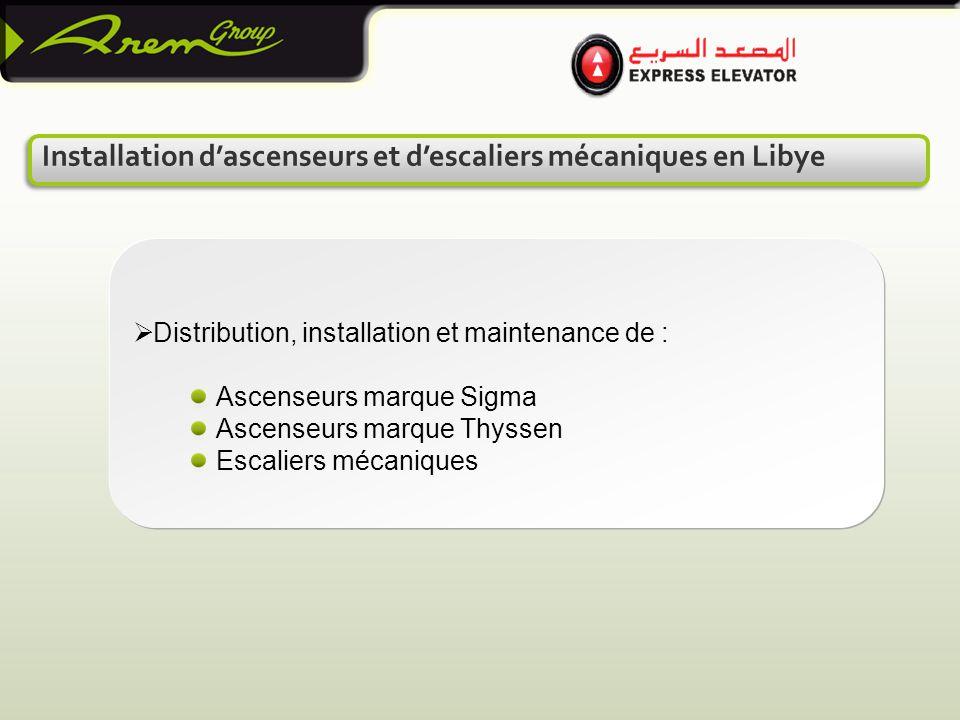 Installation d'ascenseurs et d'escaliers mécaniques en Libye
