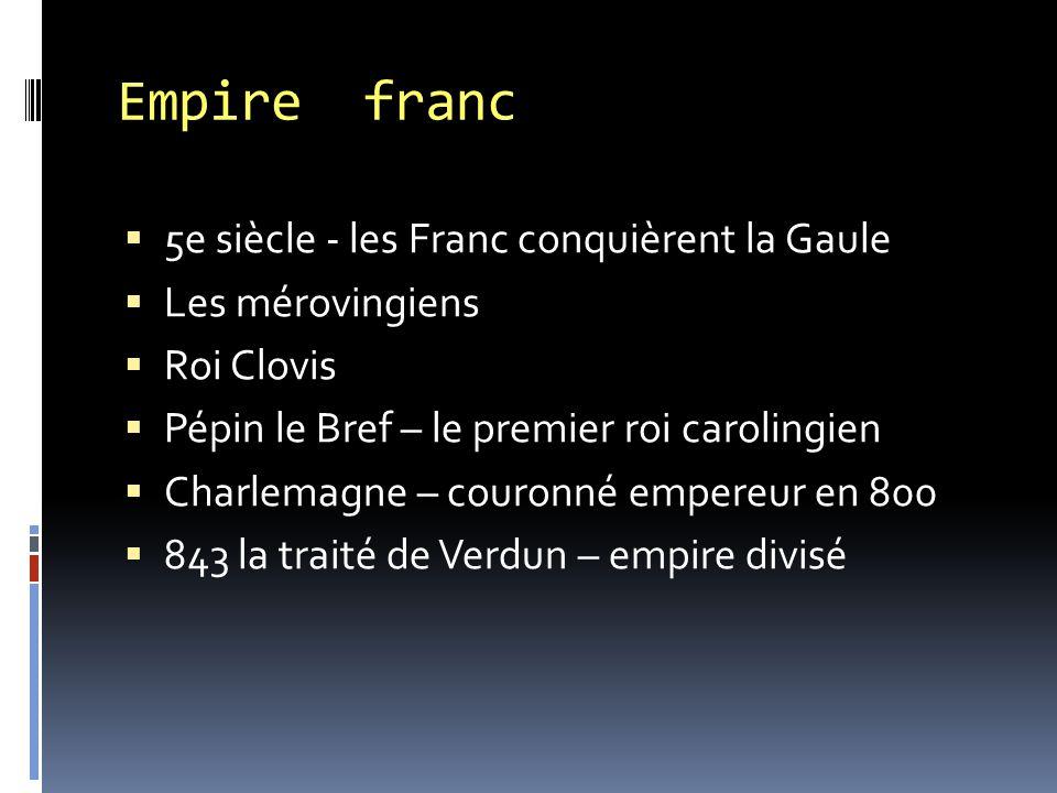 Empire franc 5e siècle - les Franc conquièrent la Gaule