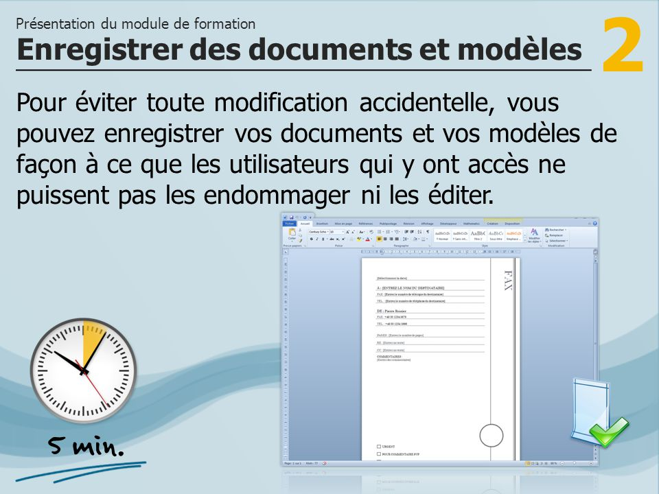 Enregistrer des documents et modèles