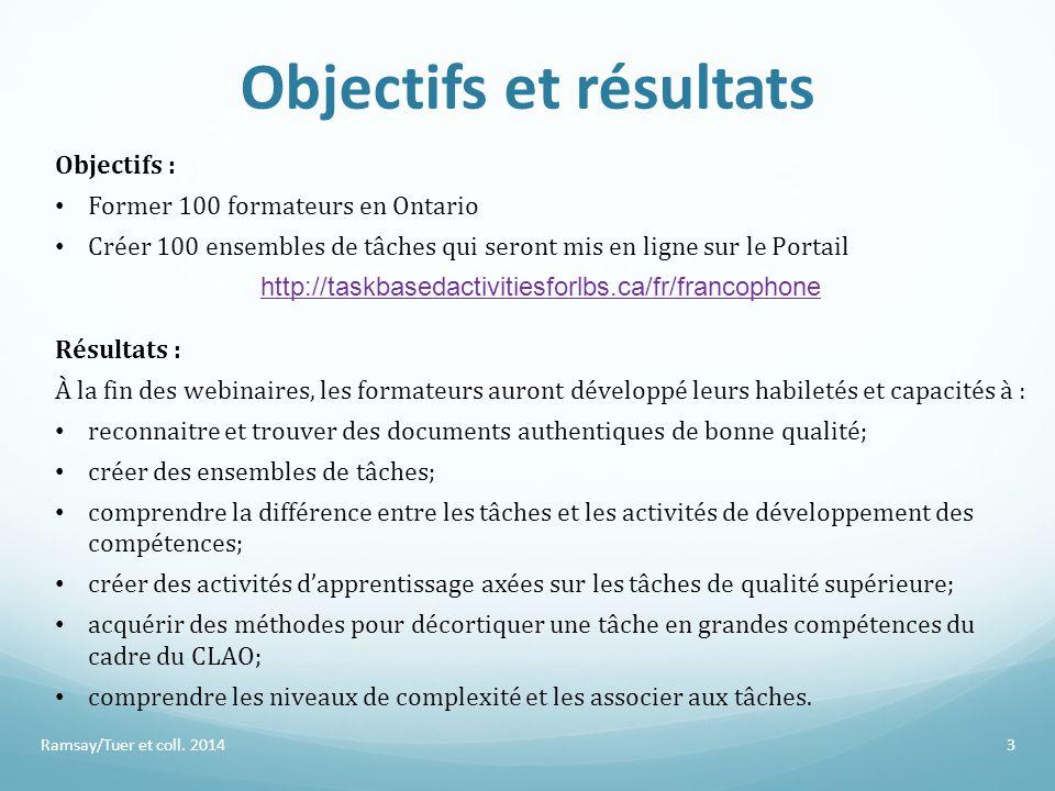 Objectifs et résultats