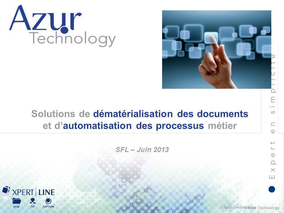 Présentation Azur Technology SFL – Juin 2013