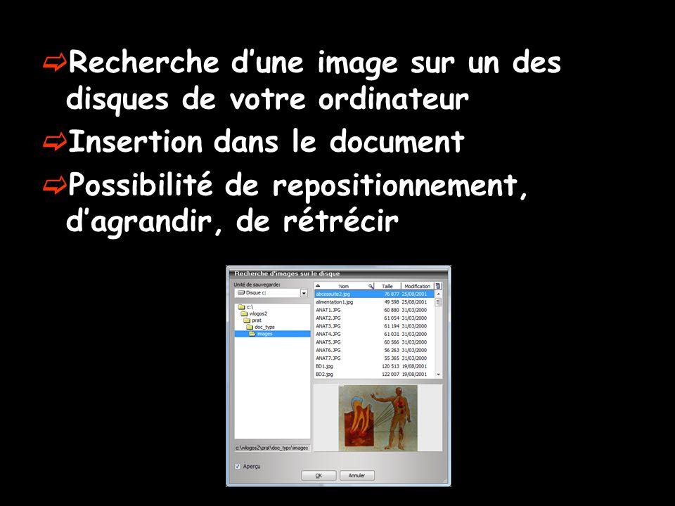 Recherche d'une image sur un des disques de votre ordinateur