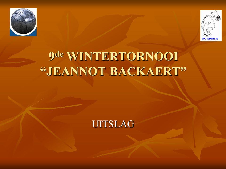9de WINTERTORNOOI JEANNOT BACKAERT