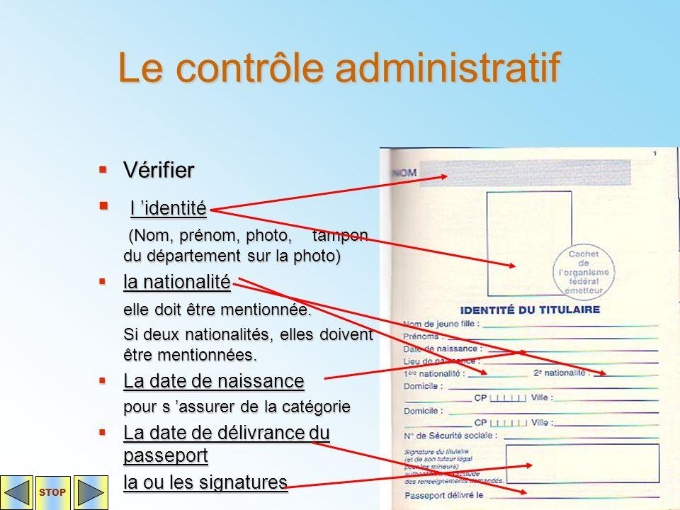 Le contrôle administratif