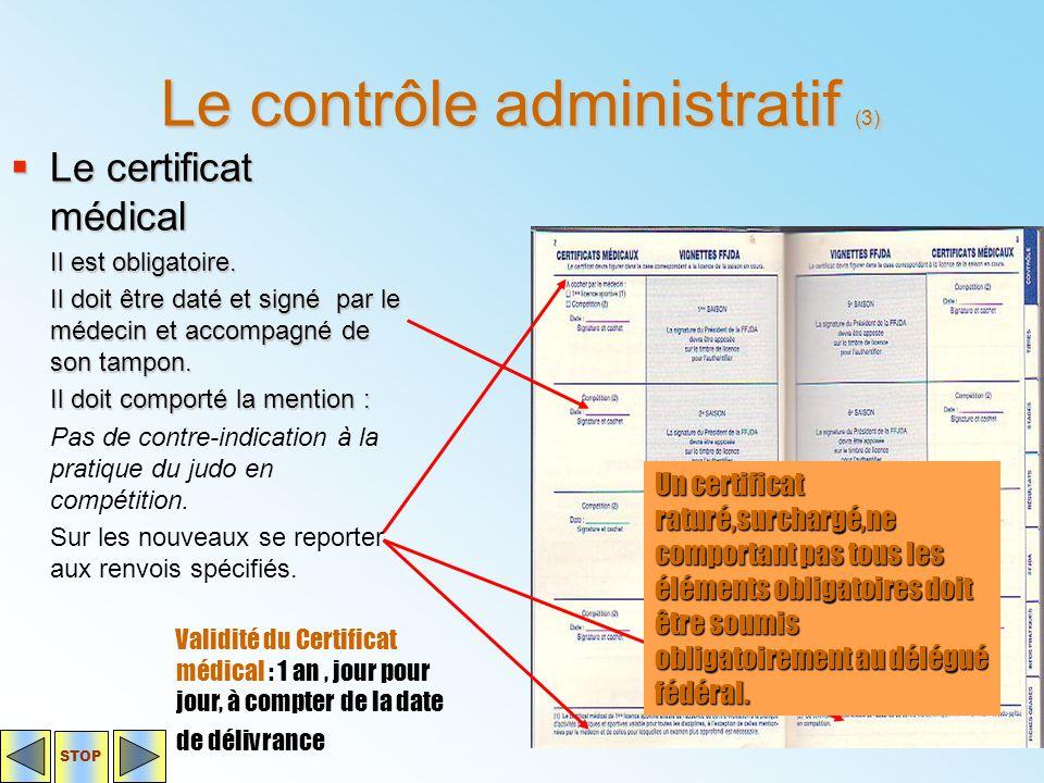 Le contrôle administratif (3)