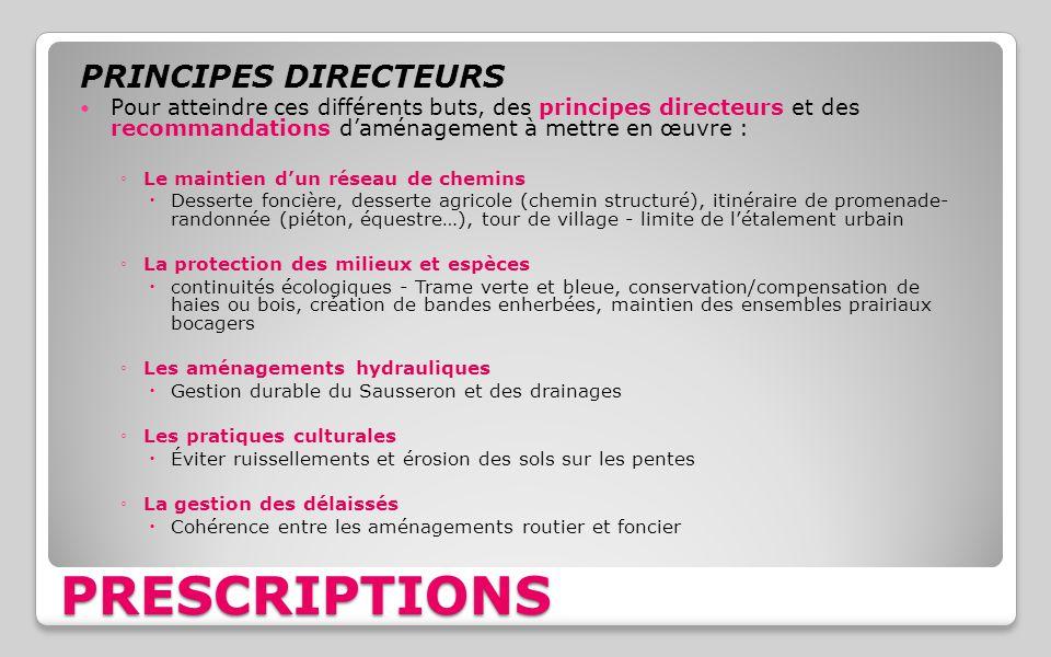 PRESCRIPTIONS PRINCIPES DIRECTEURS