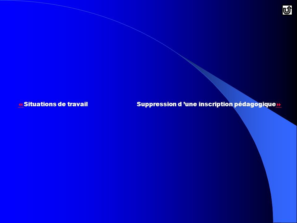 Situations de travail Suppression d 'une inscription pédagogique
