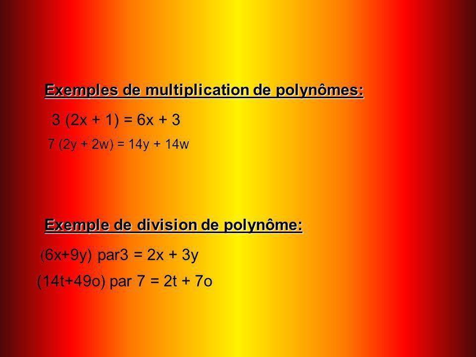 Multiplication de polynômes