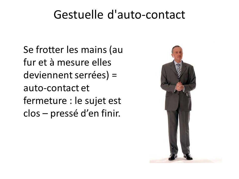 Gestuelle d auto-contact