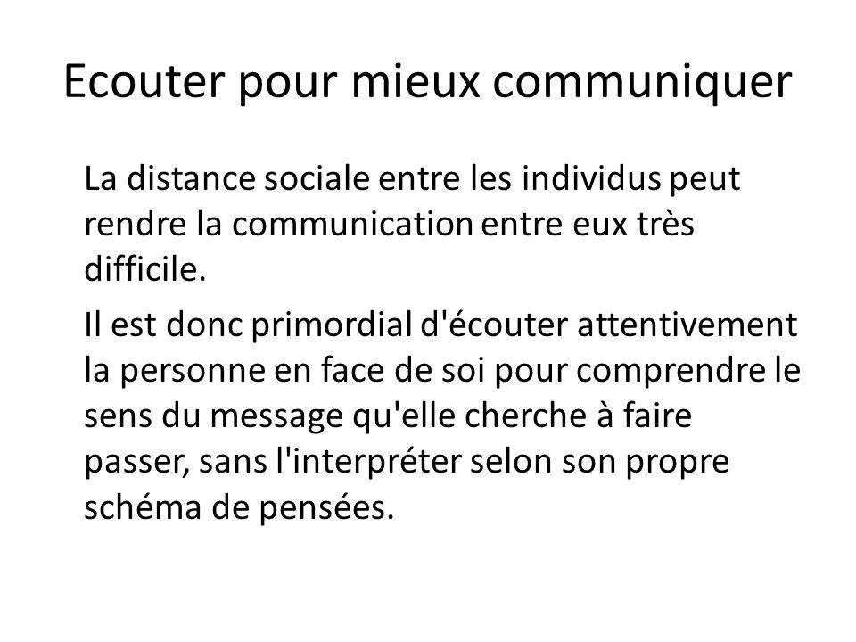 Ecouter pour mieux communiquer