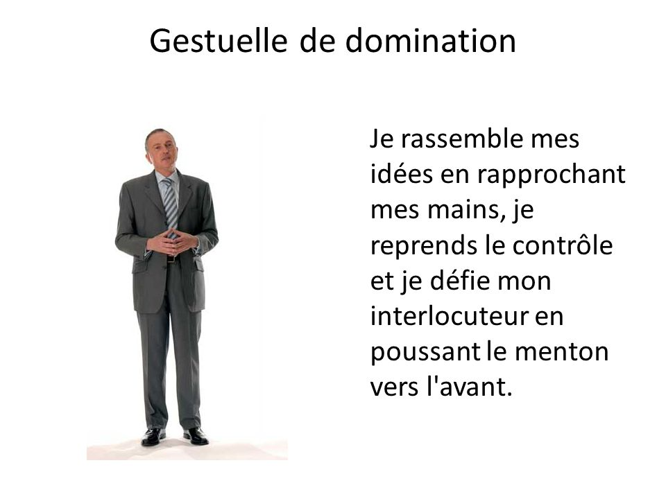 Gestuelle de domination