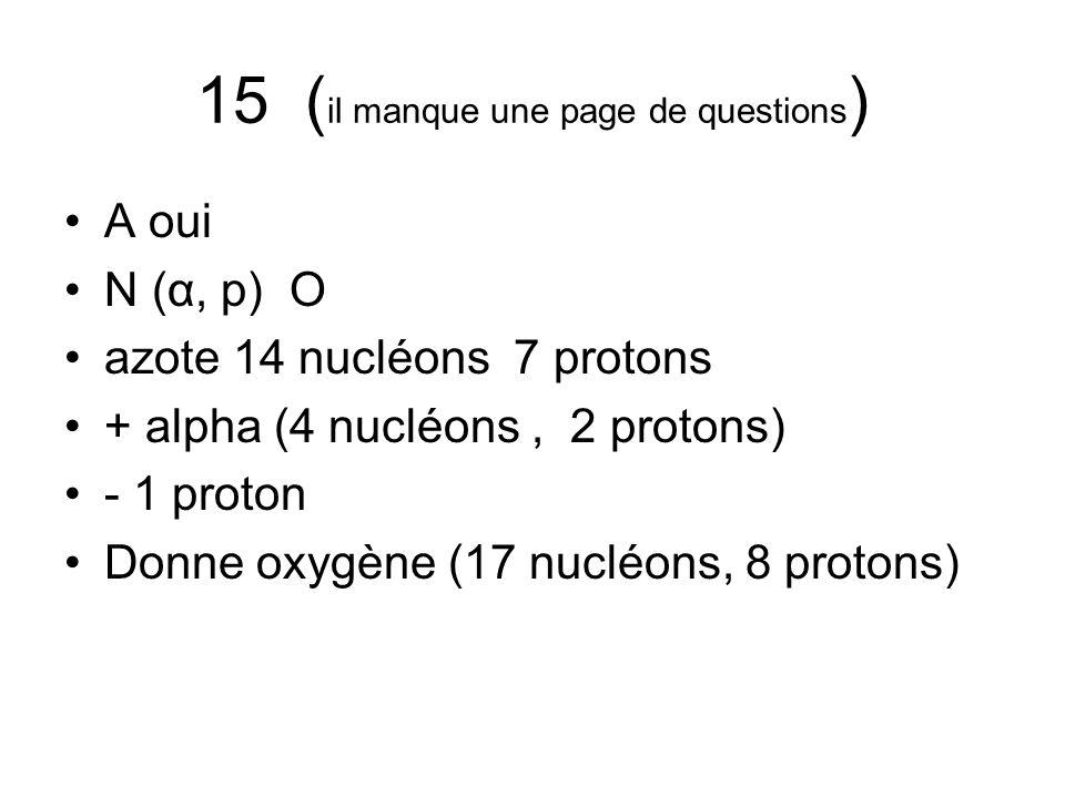 15 (il manque une page de questions)