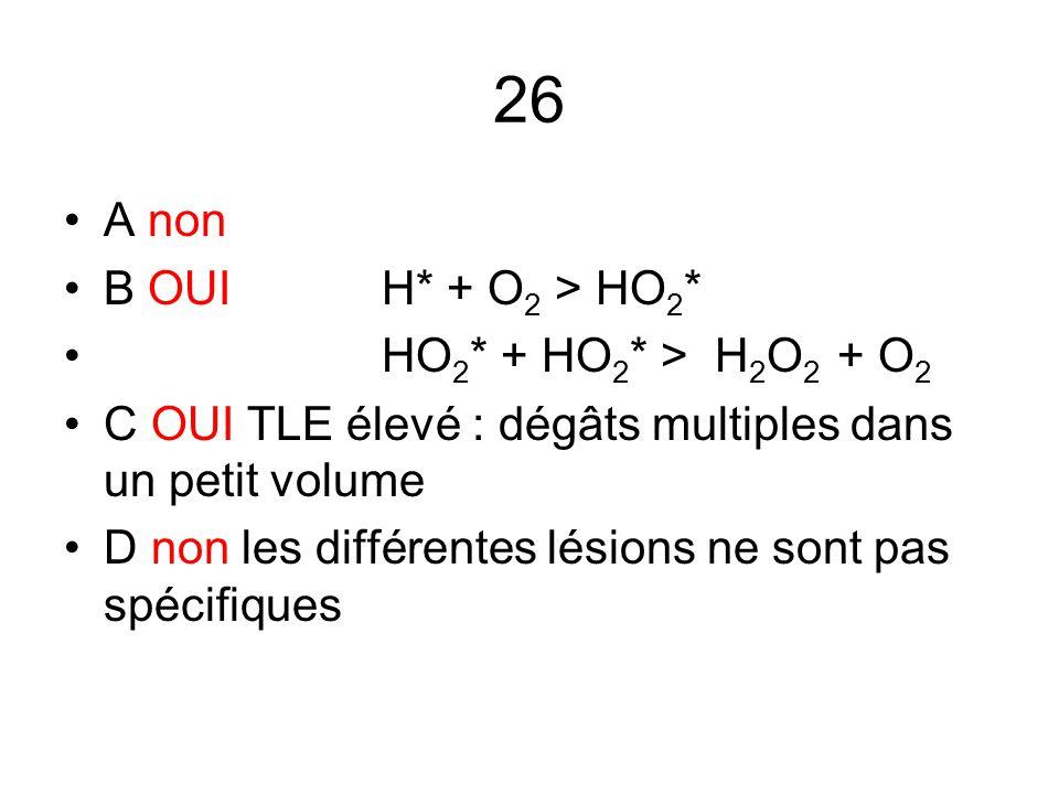 26 A non B OUI H* + O2 > HO2* HO2* + HO2* > H2O2 + O2