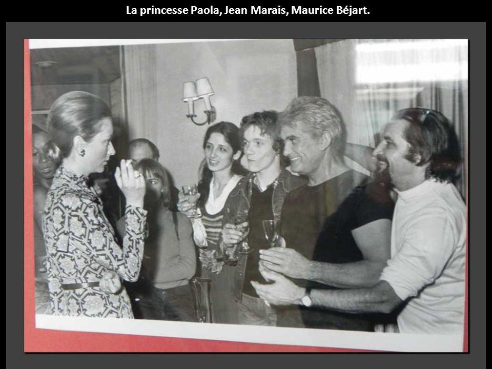La princesse Paola, Jean Marais, Maurice Béjart.