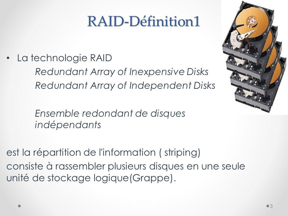 RAID-Définition1 La technologie RAID